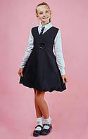 Школьный сарафан для девочки, колокол чёрного цвета