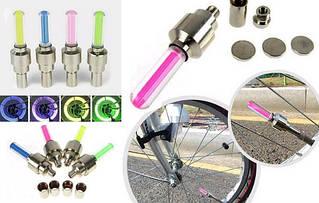 Светящиеся колпачки колесных дисков на авто, мото, вело.