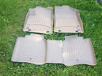 Lexus ES ES 350 ES300H 2012-17 коврики резиновые бежевые передние задние Weathertech новые оригинал