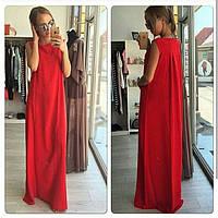 Платье в пол из плательной ткани