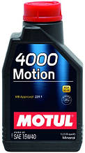 Масло  MOTUL 4000 MOTION 15W-40 1л (386401)