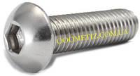 Винт М3х10 А2 нержавеющий ISO 7380, ГОСТ 28963-91 с полукруглой головкой и внутренним шестигранником
