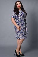 Платье летнее трикотажное большого размера