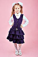 Сарафан школьный  с трёхъярусными рюшами