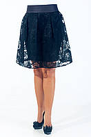 Молодежная юбка полу-солнце Валери черная,размеры: 40, 42, 44, 46,48,50. (О.М.Д.) Новинка.