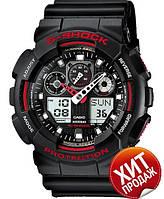 Casio G-Shock GA-100 Black-Red (реплика)