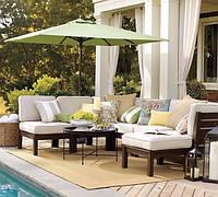 Подушки, матрасы, шторы для садовой мебели