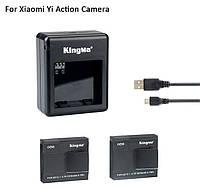 Док станция и 2 аккумулятора + кабель от Kingma для Xiaomi YI Экшн камеры
