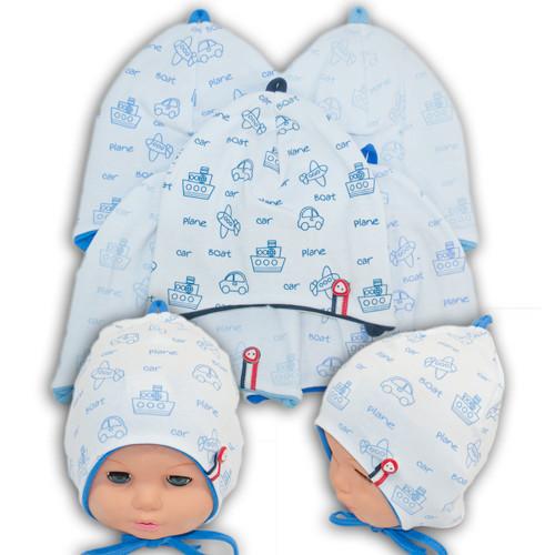 Трикотажная шапка на завязках для малышей, BSK 69