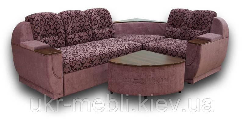 Угловой диван Меркурий с пуфом-столиком, Юдин