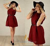 Платье кашемировое без рукавов + пояс 110 (НКН)