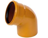 Колено наружное (угол) Пвх 110х67 (10) - Инсталпласт-ХВ