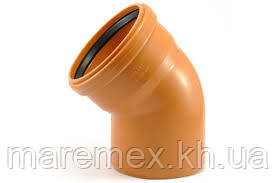 Колено 110/45 наружная канализация (50) - Evci Plastik