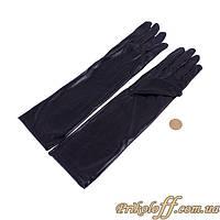 Черные перчатки, длинные