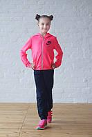 Костюм спортивный Nike (розовый неон+т.синий)