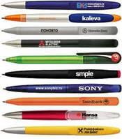 Ручки пластикові під нанесення логотипу