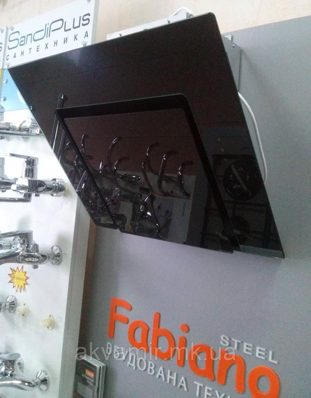 Витяжка для кухні Fabiano Adria 60 Black (чорне скло) похила