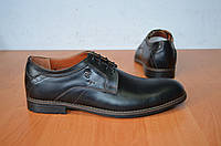 Модельные туфли из натуральной кожи черные