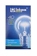 "Лампа накаливания шар Е27 40 Вт в коробочке (ДШ) ""Искра"" Львов, фото 1"