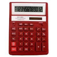 Калькулятор Citizen SDC-888 ХRD 12ти разрядный, красный