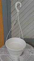 Подвесной горшок  (дм 25) 5.4 л. с подвесом KLODA (белый)