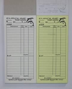 Изготовление самокопирующихся счетов официанта кухня-бар с логотипом