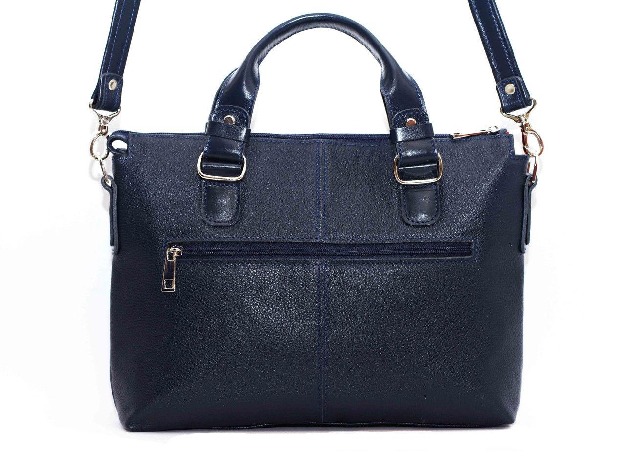 Классическая женская сумка Vatto темно-синяя из натуральной кожи, ... 5e00a739f19