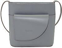 Женская сумочка Vatto серая из натуральной кожи
