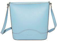 Женская сумочка Vatto голубая из натуральной кожи