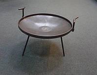 Диск борони (жарочна тарілка для відкритого вогнища) з знімними ручками + дерев'яна лопатка у подарунок