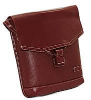 Женская сумочка-планшет Vatto бордовая из натуральной кожи