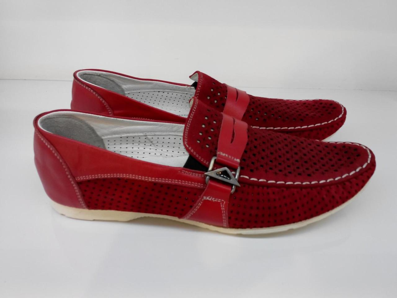 Мокасины  Etor 6991-646-1 красные