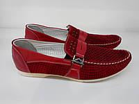 Мокасины  Etor 6991-646-1 красные, фото 1