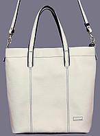 Практичная сумка женская Vatto кожаная белая
