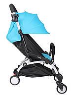 Прогулочная коляска YOYA голубая (с увеличенным капором)