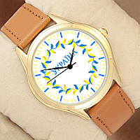 Часы наручные Украина с лепестками