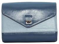 Женская сумочка Vatto голубой+синий из натуральной кожи