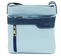 Женская сумочка Vatto голубой с синим из натуральной кожи