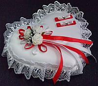 Свадебная подушка под кольца № 1-красн