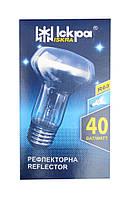 """Лампа накаливания рефлекторная R63 Е27 40 Вт (ДЗК) в коробочке """"Искра"""" Львов, фото 1"""