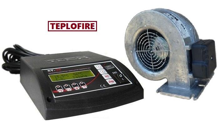 Блок управления для твёрдотопливных котлов TECH ST-28 и вентилятор WPA120