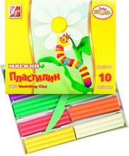 "Пластилин мягкий 10 цветов  ""Кроха"" 165 г.  со стеком"