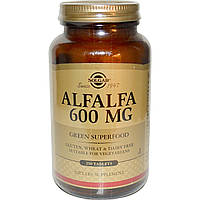 Альфальфа, Alfalfa Leaf, Solgar, 600 мг, 250 таблеток