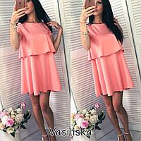 Женское шикарное прямое платье с напуском (4 цвета)