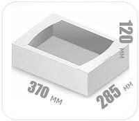 Белый гофролоток 370х285х120 мм