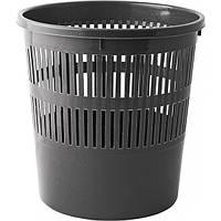 Корзина для бумаг Buromax с прорезями 8 литров черная (BM.1920-01)