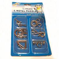 Набор металлических головоломок 6 в 1 Metal Puzzle P2615, в ассортименте