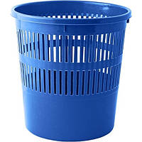 Корзина для бумаг Buromax с прорезями 8 литров синяя (BM.1920-02)