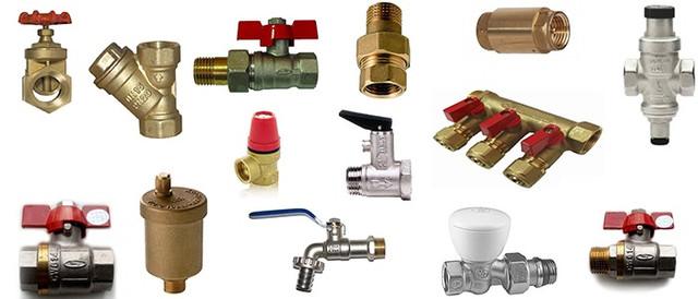 Комплектуючі систем опалення, водопостачання