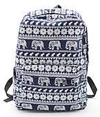 Стильная женская сумка-рюкзак со слонами  Б/Н art. C-1